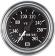 Stewart Warner - 82326-144 - Chrome Mechanical Water Temperature Gauge, 2-1/16