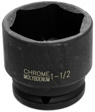 Wilmar Performance Tool - M817 - 1/2 In. Drive 6 Point Impact Socket 1-1/2 In.
