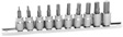 Wilmar Performance Tool - W1388 - 10 Piece MET Hex Bit Socket Set