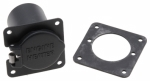 ZeroStart - 360-0088 - Weatherproof receptacle - four hole square flange - painted