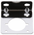 ZeroStart - 860-6048 - Mounting bracket for weatherproof receptacles - chrome plated - for 4 or 2 hole mount receptacles